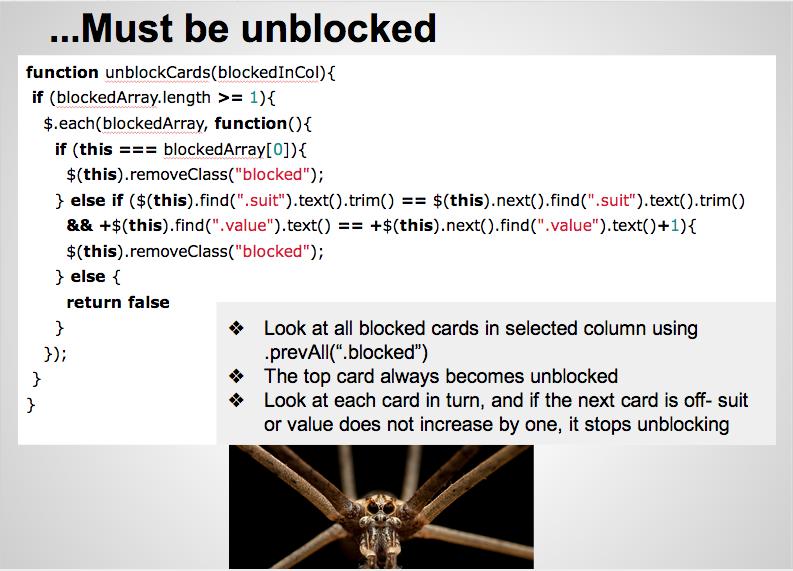 Unblocking